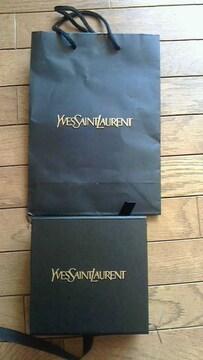 YvesSAINTLAURENTの箱と紙袋です。