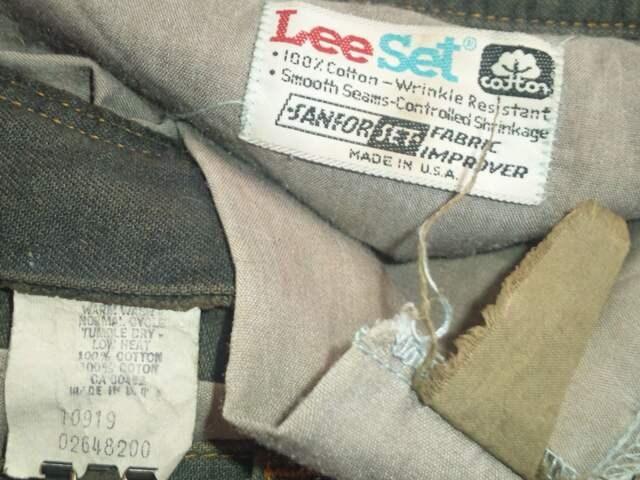 #USA製#ビンテージ¶Lee Set[リー]★カットオフ・カラーデニムハーフパンツ W82cm < ブランドの