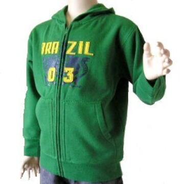 新品120cm★OLDNAVY緑BRAZIL03フルジップパーカー