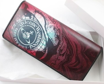 新品☆箱付 ヴィヴィアンウエストウッド かぶせ 長財布 レッド