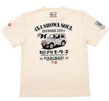 カミナリ雷/ジムニー/Tシャツ/白/kmt-184/エフ商会/テッドマン/カミナリモータース