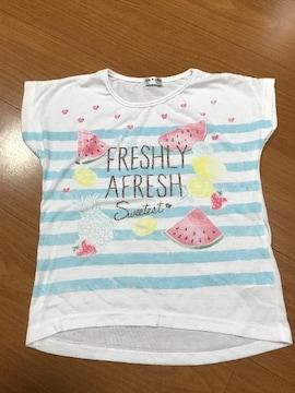フルーツ柄 半袖Tシャツ130