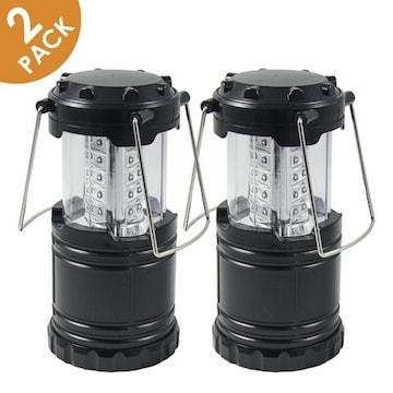 LEDキャンピングライト (ブラック)2個セット