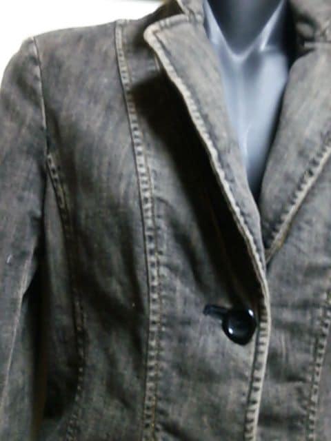 100スタ☆ボナジョルナータブラックデニムジャケット☆ < 女性ファッションの
