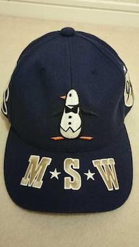 【美品!!】マンシングウェア 帽子(黒)