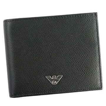 ◆新品本物◆エンポリオアルマーニ 2つ折財布(BK)『YEM122 YAQ2E』◆