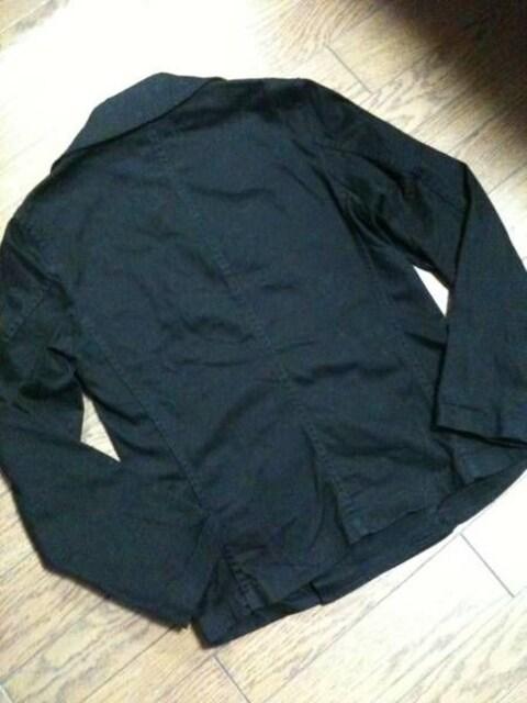 美品Zucca ショートPコート フランス製 ブラック ズッカ < ブランドの