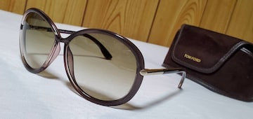 正規美 レア トムフォード クリアグラデーションフレーム バタフライサングラス グラマラスパープル