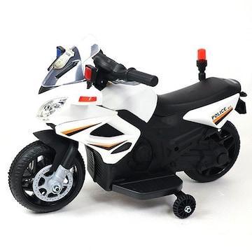 電動乗用アメリカンポリスバイク 乗用玩具 子供用 補助輪付き