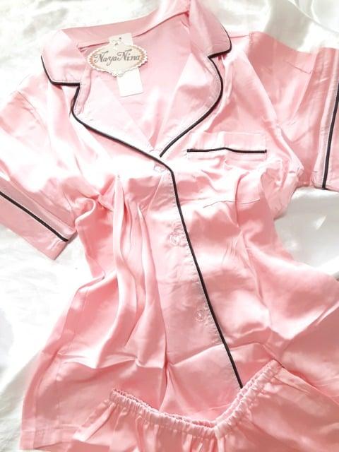 +。:.゜光沢ツルスベ艶々最高肌触りサテンパジャマ。+゜  < 女性ファッションの