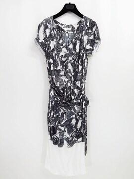 ドリスヴァンノッテン バード シルク ラップ スカート ドレス ワンピース