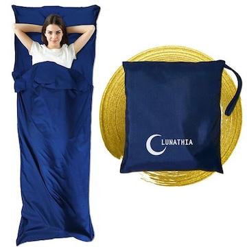 インナーシーツ シュラフ 寝袋 ライナー 封筒型 丸洗い