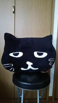 即決 黒猫 BIGクッション ぶさかわネコちゃん ねこ 新品♪