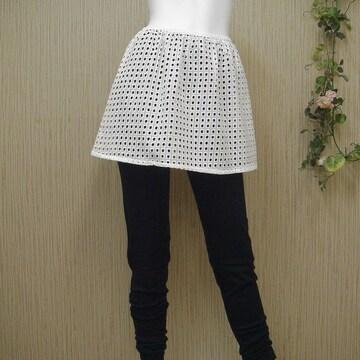 衝撃290円セール★レギンスやフィットネスにオーバースカート白