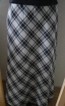 千鳥デザインロングスカート