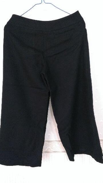 ホコモモラ☆黒ウール半端丈パンツ40 < ブランドの