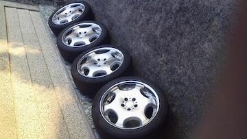 ミニバン等に深リムAMEシャレン18インチ×7.5J新品タイヤ 225/45ZR18