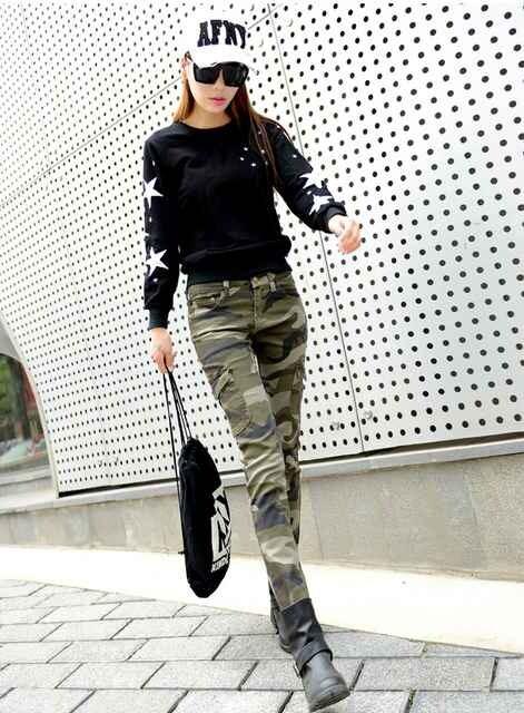 26インチ(Sサイズ)★カモフラージュパンツ  < 女性ファッションの