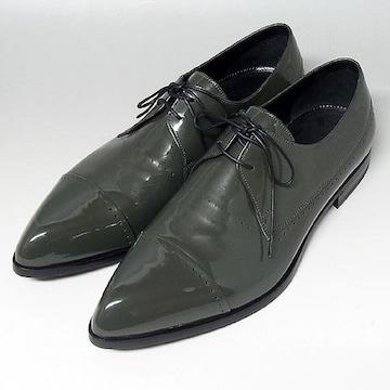 【セルジオ・ロッシ】エナメル メンズシューズ 革靴 モス