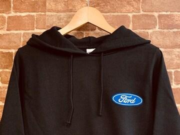 表記S/新品!フォード 刺繍 ワッペン付き パーカー USA企業 アメ車 アメカジ