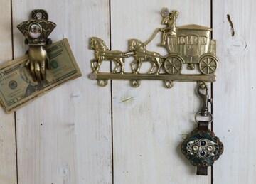 イタリア産 ザマック製 馬車ウォールフック ハンガー コーチ