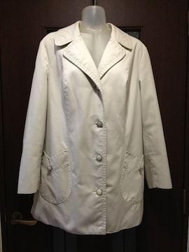 古着42/スプリングコート/薄ベージュ/チューリップポッケ/外国製