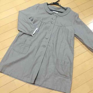 新品◆SM2◆丸襟かわいいスプリングコート◆綿麻リネン