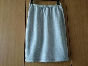 anySiS☆スウェット素材ひざ丈スカート★グレー☆