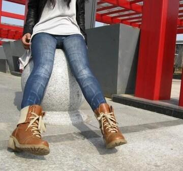 送料無料 擦れデニム風レギンス 伸縮ストレッチ素材/カスレジーンズ インディゴ