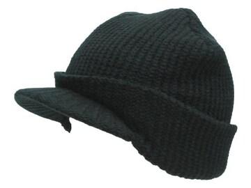 送料無料 N180 OUTLET つばニット cap 帽子 防寒 JEEP 黒