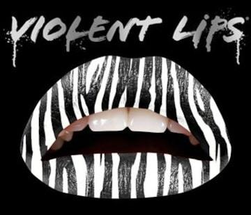2g6)ViolentLipsバイオレントリップスゼブラタトゥーシール唇B系パーティー仮装セレブ