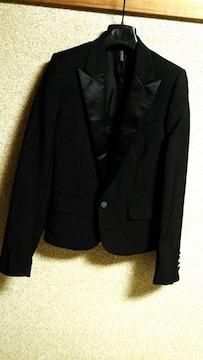 正規良 Dior Hommeディオールオム スモーキングチューブジャケット黒 最小40 スーツ 7H