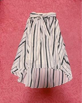 ハニーズ*ストライプ*テールカットロングスカート