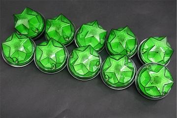レア物レトロ星型 マーカーデコトラパーツ10個set グリーン09