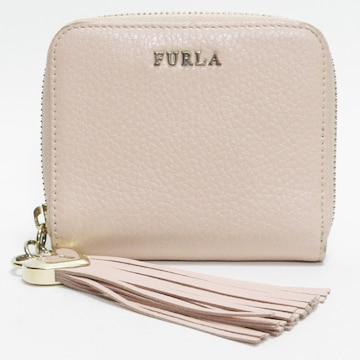 FURLAフルラ コンパクト財布 レザー 薄ピンク 良品 正規品