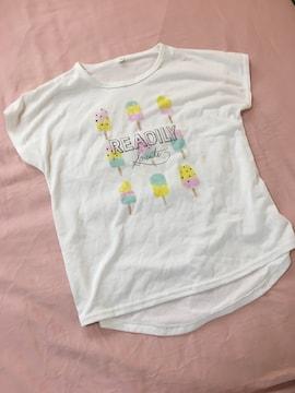 Tシャツ白/Mサイズ/プリントトップス