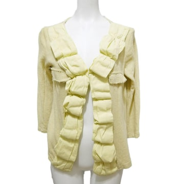 イタリア製kosmika 春夏ニットジャケット黄色