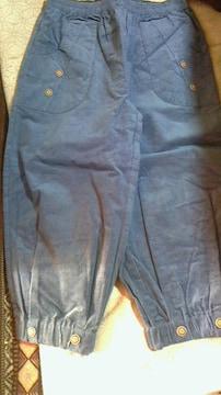 ブルーグレー柔らか暖かデザインパンツLLサイズ送料無料