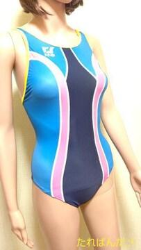 新品タグ付☆TORNADO光沢ネオンOバック競泳水着5343☆3点で即落