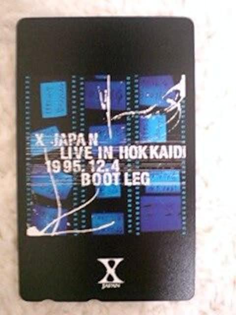 X JAPAN テレカ hide YOSHIKI LIVE IN HOKKAIDO  < タレントグッズの