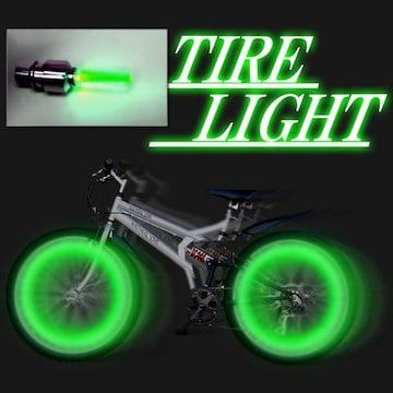 LEDホイールフラッシュ☆グリーン☆2個1セット