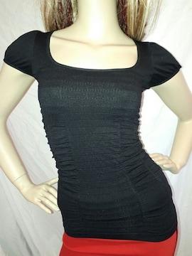 CLASS シームレス パフスリーブ Tシャツ ブラック 黒