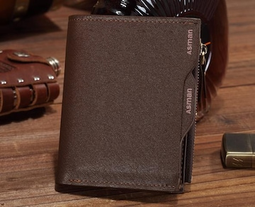 二つ折り財布 パスケース 多機能 送料無料 カード7枚 小銭入