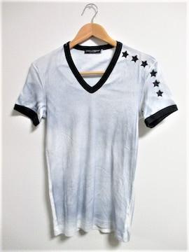 ☆DOLCE&GABBANA ドルチェ&ガッバーナ ドルガバ Vネック Tシャツ/メンズ/44(S)