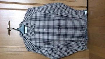 激安83%オフ、長袖シャツ、ジャケット(新品タグ、紫チェック、日本製、L)