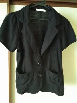 半袖スウェットジャケット黒L