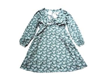 新品 定価¥5900ナイスクラップ 膝丈 花柄 ワンピース