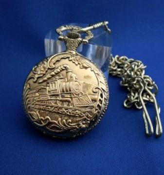 懐中時計ロコモーションGO-ポケットウォッチ汽車