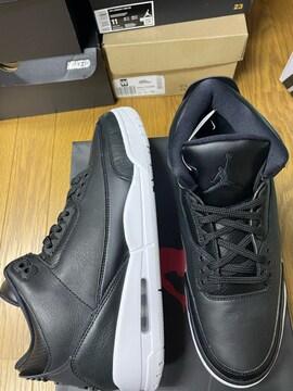 新品!Nike AIRJORDAN3 retro 黒/白 オールレザー ダンクフォース