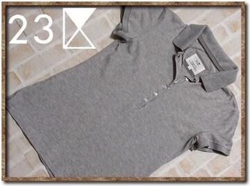 23区 半袖ポロシャツ グレー